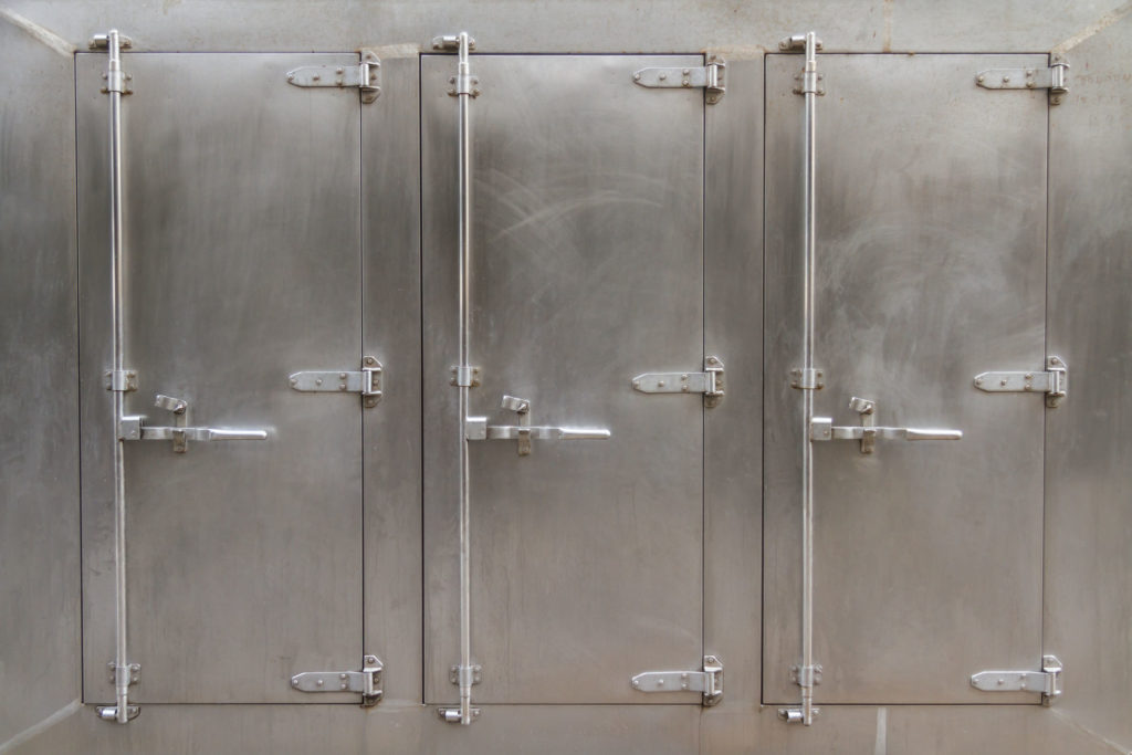 a large freezer for industrial or commercial kitchens