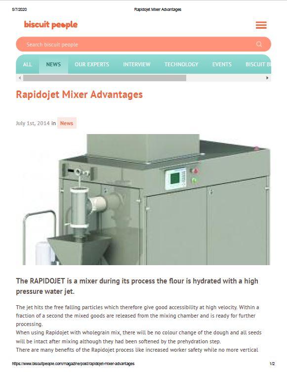Rapidojet Mixer Advantages