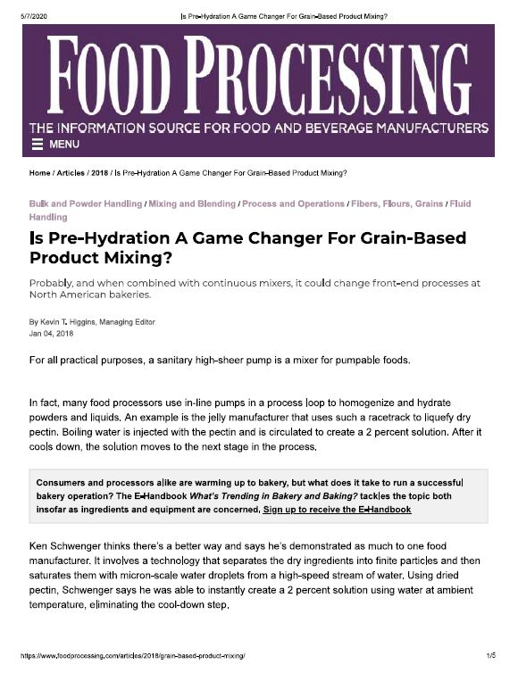 Food Processing: Is-Pre-Hydration-A-Game-Changer-For-Grain-Based-Product-Mixing