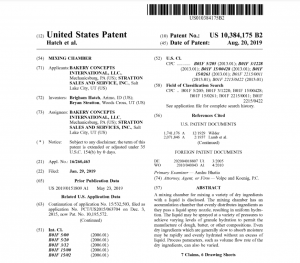 bakery concepts patent